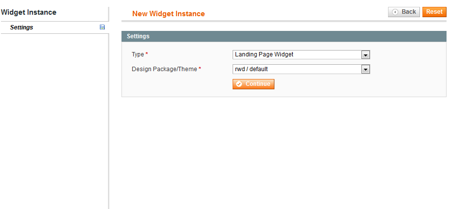 Landing Pages Widget New